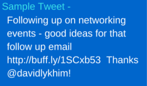 A sample tweet the has all the components mentioned.